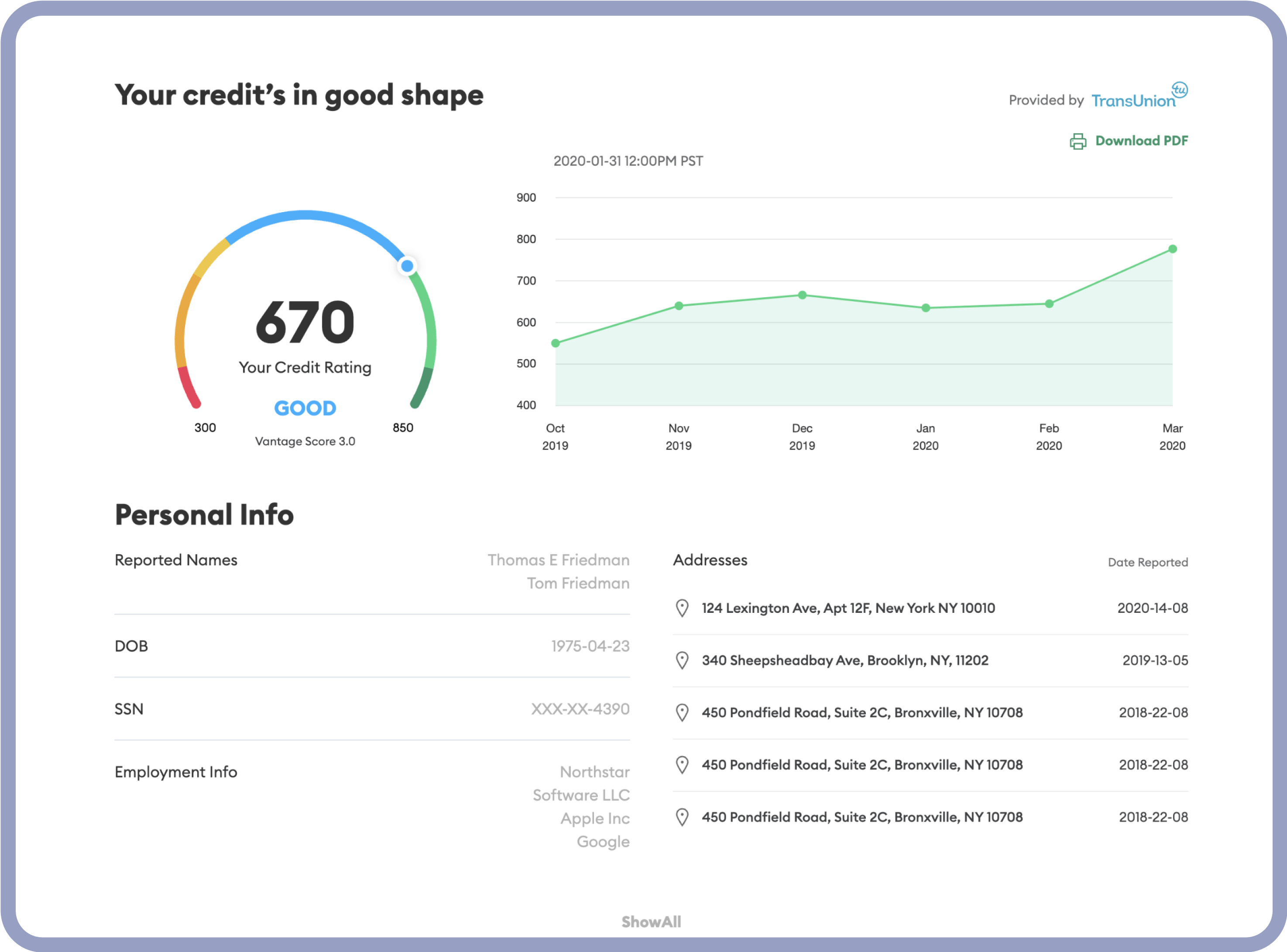 Credit data access, in an instant undefined undefined